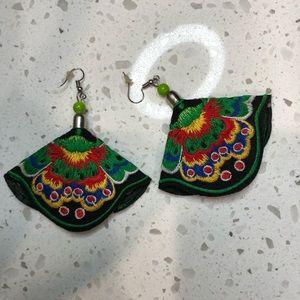 Black Moth Earrings